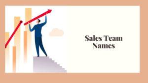 Best Sales Team Names